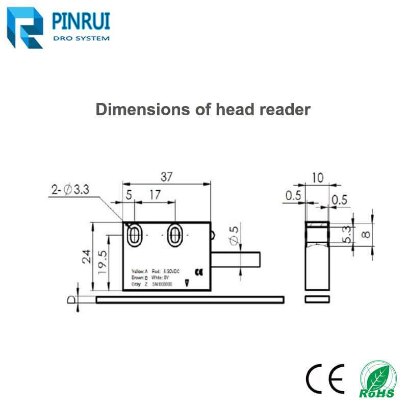 magnetic linear scale reader head
