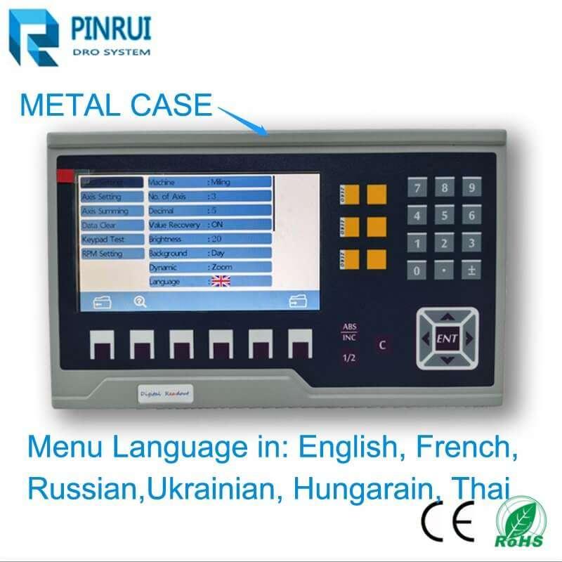 "metal case 7"" lcd digital readout dro"